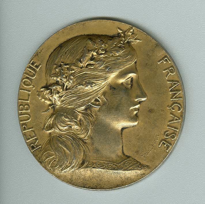 Médaille de Vermeil offerte en 1908